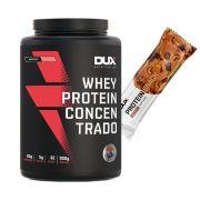 Whey Concentrado 900g Morango + Proteinsnack Castanha