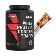 Whey Concentrado Dux 900g Baunilha + Proteinsnack Frutas V