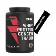 Whey Concentrado Dux 900g Chocolate + Barra de Proteína
