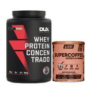 Whey Concentrado Dux 900g Coco + Supercoffee 2.0 220g