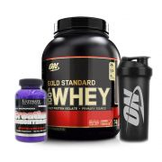 Whey Gold Standard 2.270g Baunilha +Creatina +bottle Optimum