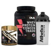 Whey Protein 900g Baunilha + Glutamine 300g Adap/ + Bottle