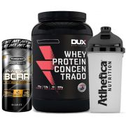 Whey Protein 900g Coco + Bcaa Platinum 60 Caps + Bottle
