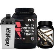 Whey Protein 900g Cookies + Glutamine 1000g Adap/ + Bottle