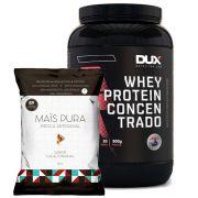 Whey Protein Concentrado 900g Baunilha + Pipoca 150g Cacau