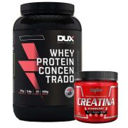 Whey Protein Concentrado 900g Cappuccino + Creatina 300g