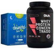 Whey Protein Concentrado 900g Chocolate + Desinchá Noite