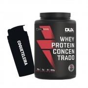 Whey Protein Concentrado 900g Morango + Coqueteleira