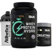 Whey Protein Hydro 900g Chocolate + Creatina 300g + Bottle