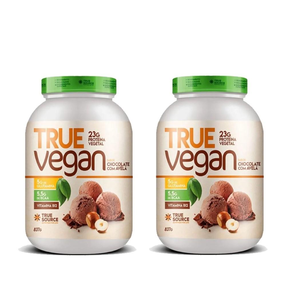 2 Un True Vegan Chocolate Com Avela 837g   - KFit Nutrition