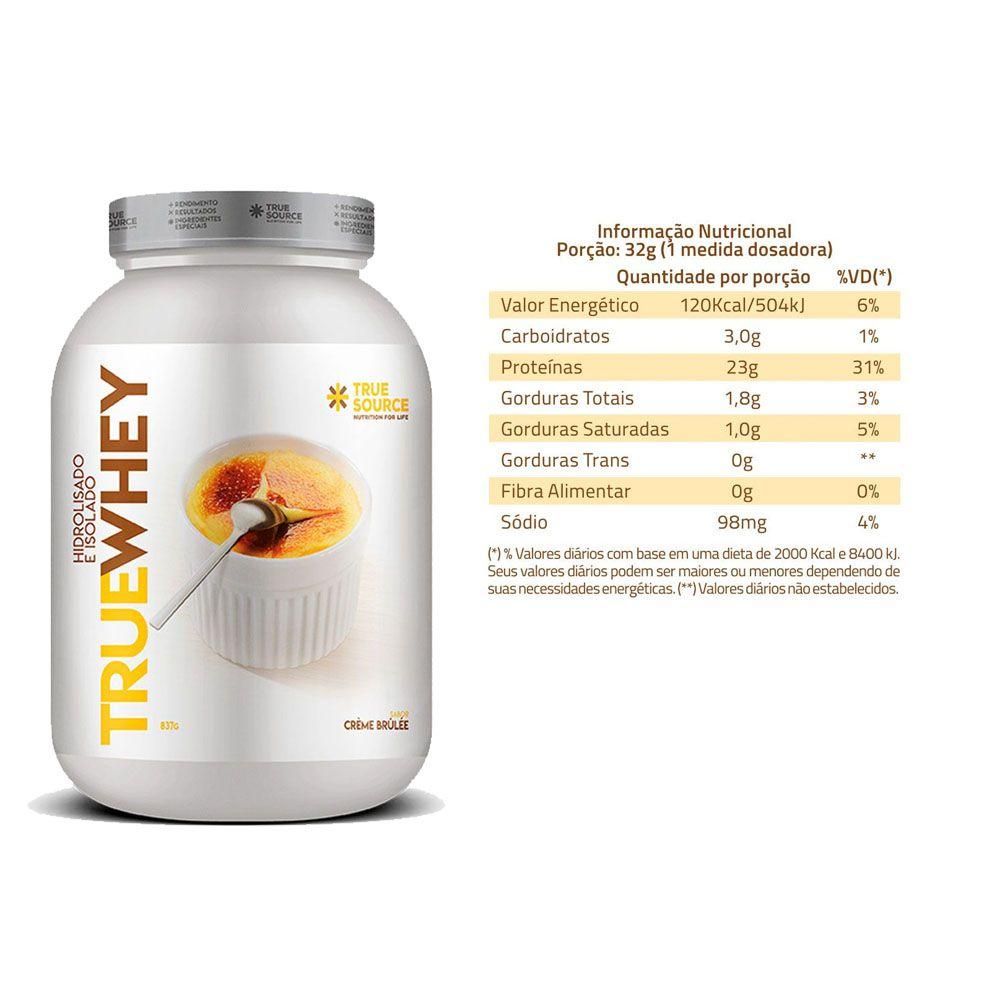 2 Un True Whey Vanilla Creme Brulle 837g - Proteina Isolada  - KFit Nutrition