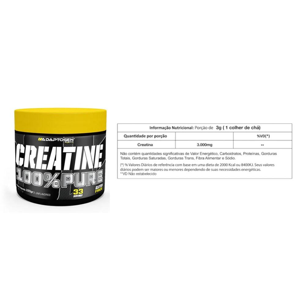 Adapto Whey Coconut 5 LBS + Creatina 100G + Bcaa 90 Caps  - KFit Nutrition