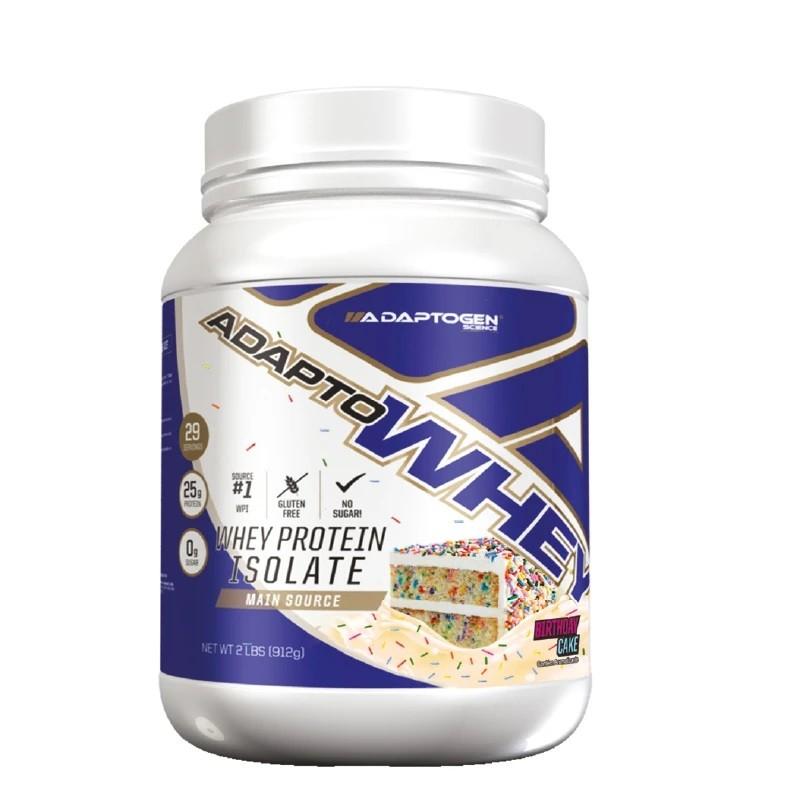 Adapto Whey Protein Isolate 912g Birthday Cake - Adaptogen  - KFit Nutrition