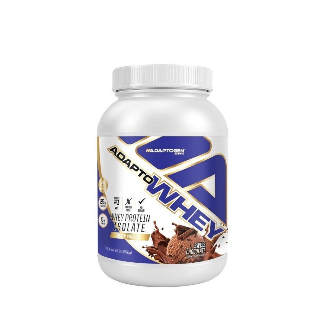 Adapto Whey Swiss Chocolate 2lbs  Adaptogen  - KFit Nutrition
