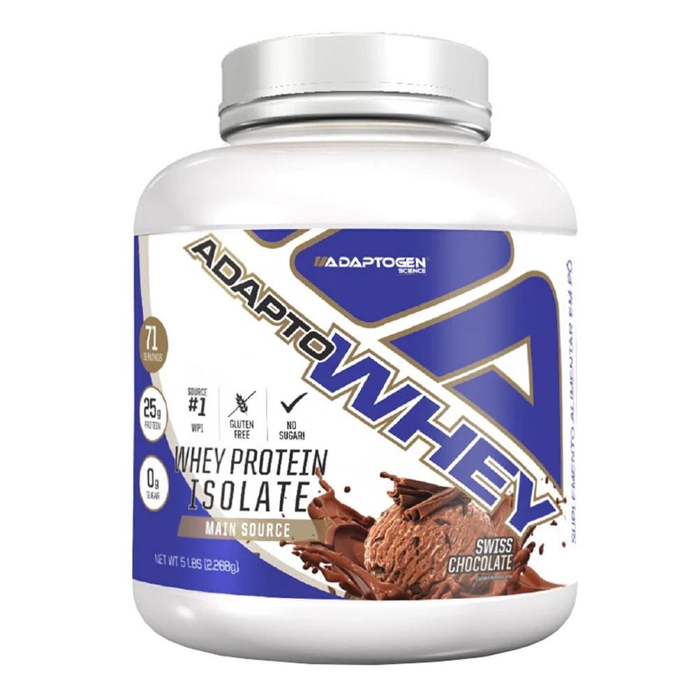 Adapto Whey Swiss Chocolate 5 LBS - Adaptogen  - KFit Nutrition