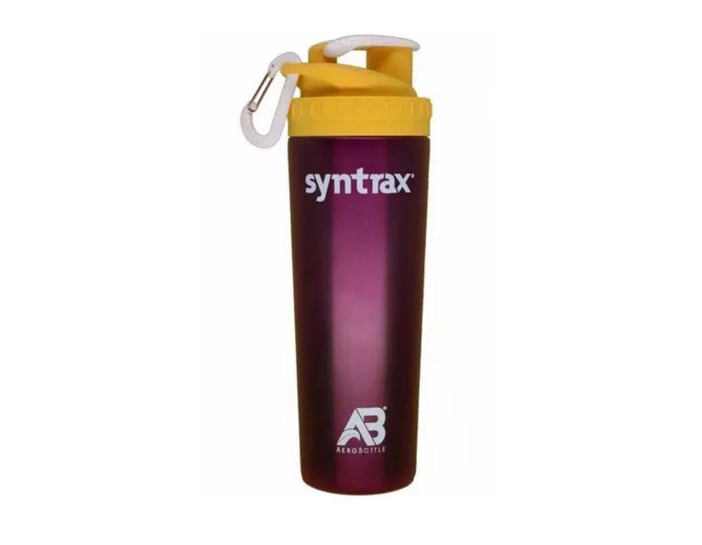 AeroBottle - Roxo e Amarelo 800ML - Syntrax  - KFit Nutrition