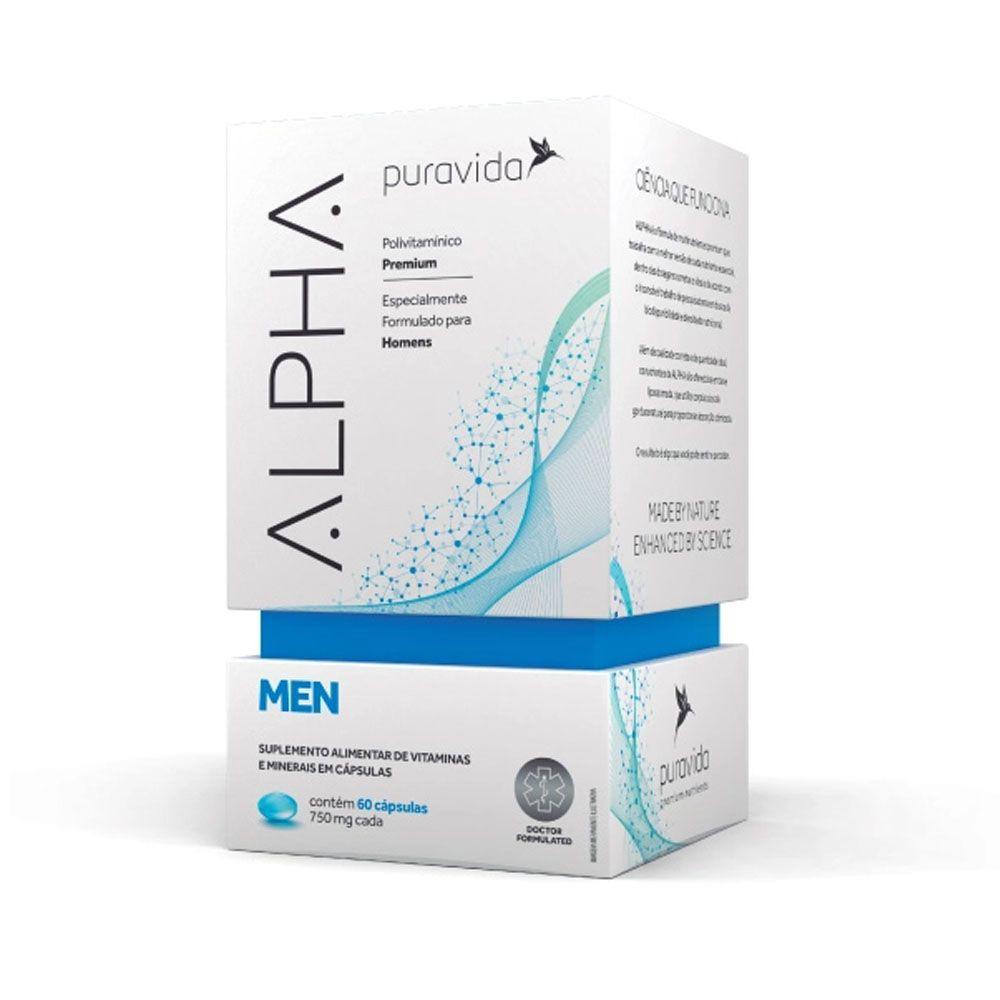 Alpha Men 60 Cáps - Puravida  - KFit Nutrition