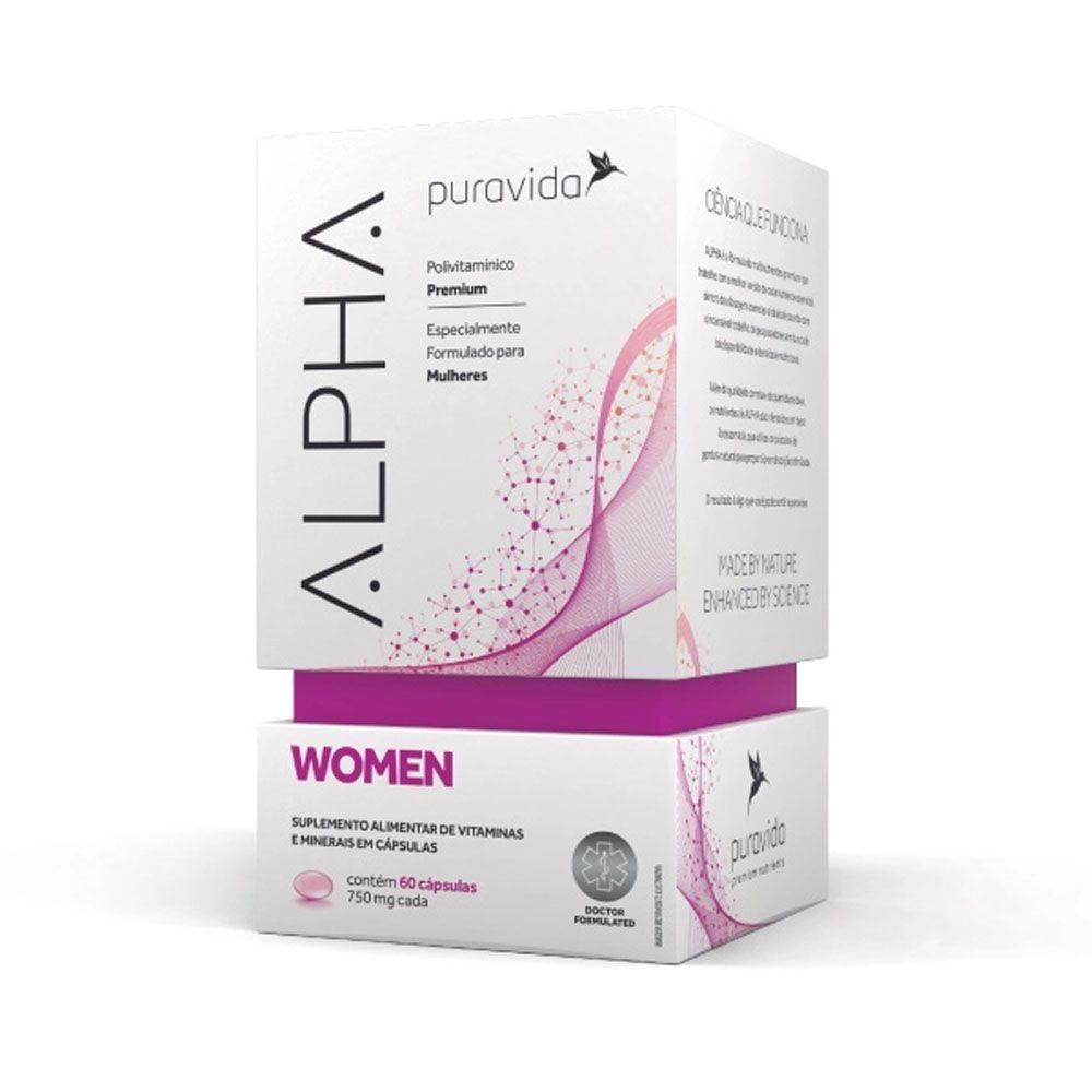 Alpha Women 60 Cáps - Puravida  - KFit Nutrition