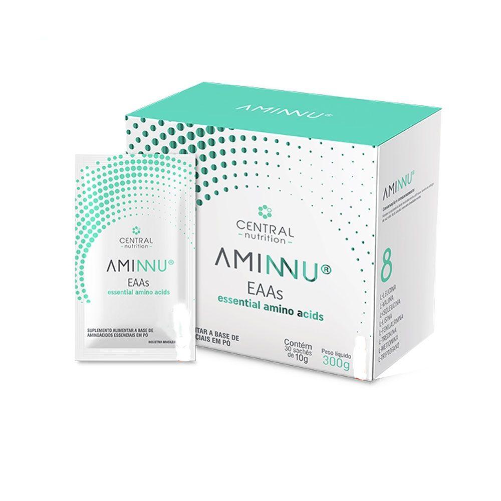 Aminnu Limão 10g Com 30 Saches - Central Nutrition  - KFit Nutrition