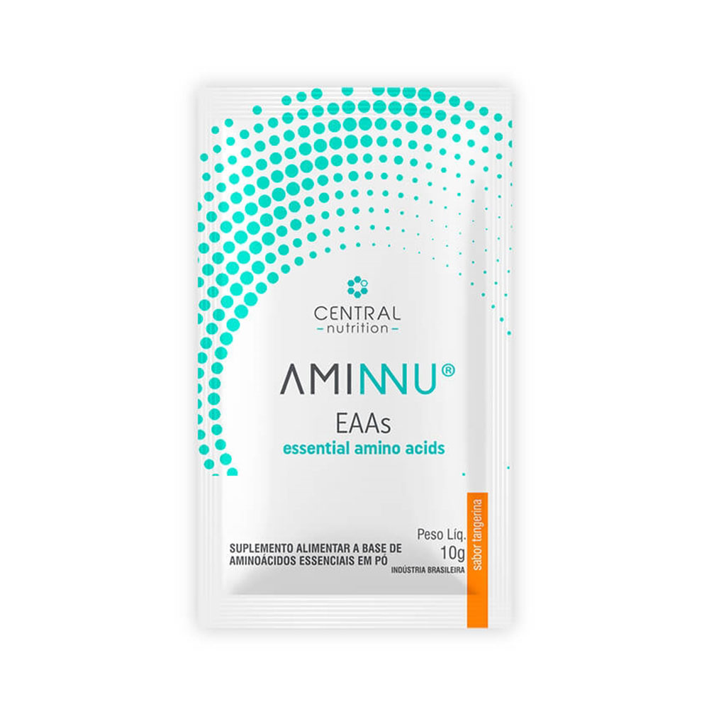 Aminnu Tangerina 10g C/10 Saches - Central Nutrition  - KFit Nutrition