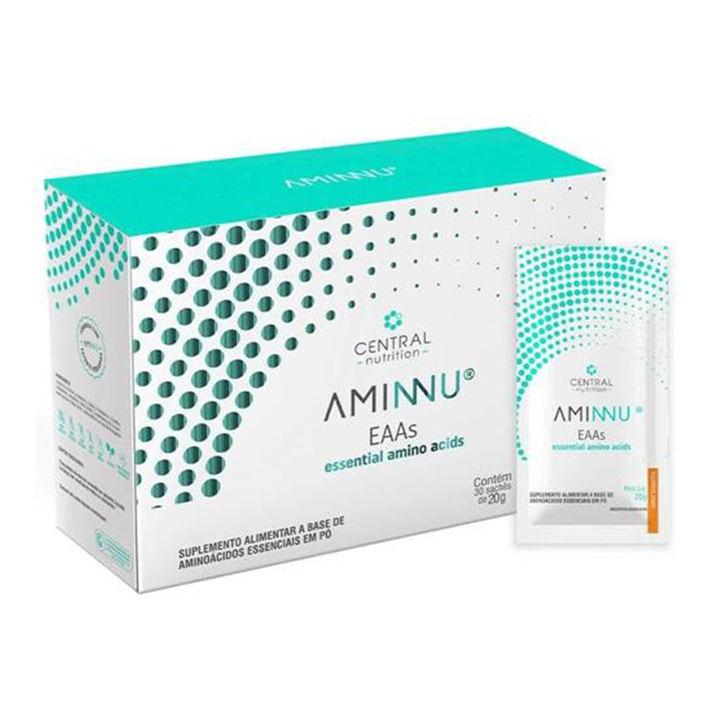 Aminnu Tangerina 20 G C/ 30 Saches  Central Nutrition  - KFit Nutrition