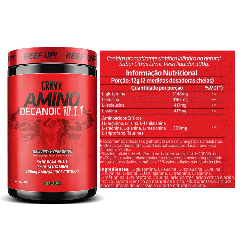 Amino Decanoid 10:1:1 Citrus Lime 300g CRNVR  - KFit Nutrition