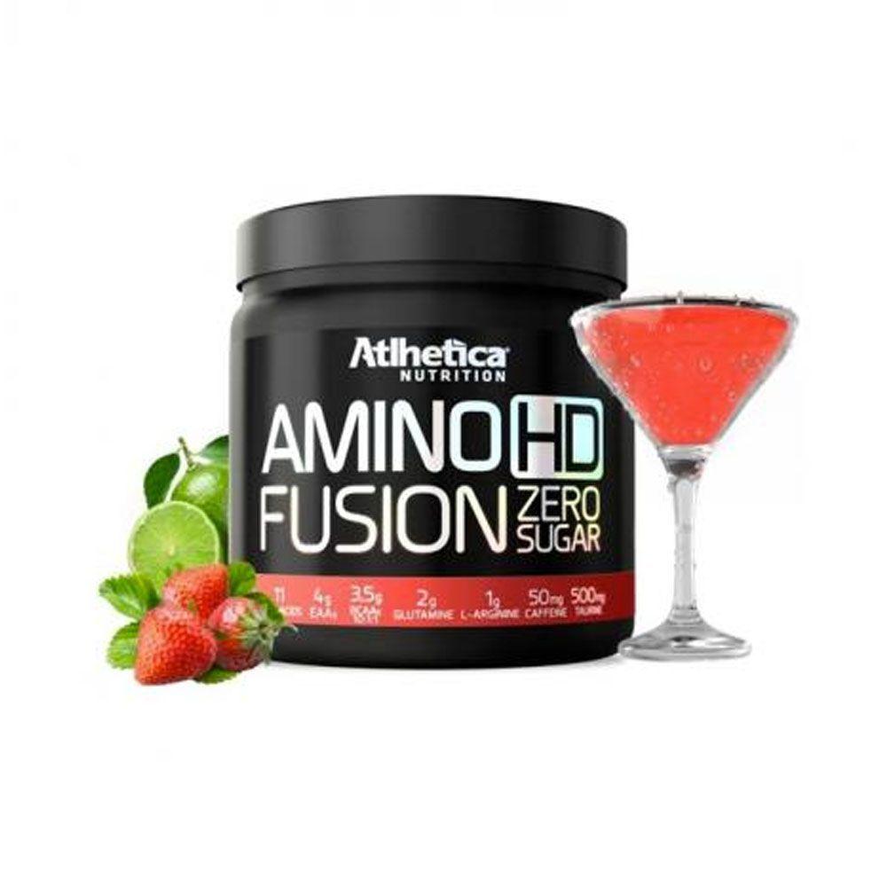 Amino Hd Fusion 450g Morango Com limão Atlhetica Nutrition  - KFit Nutrition