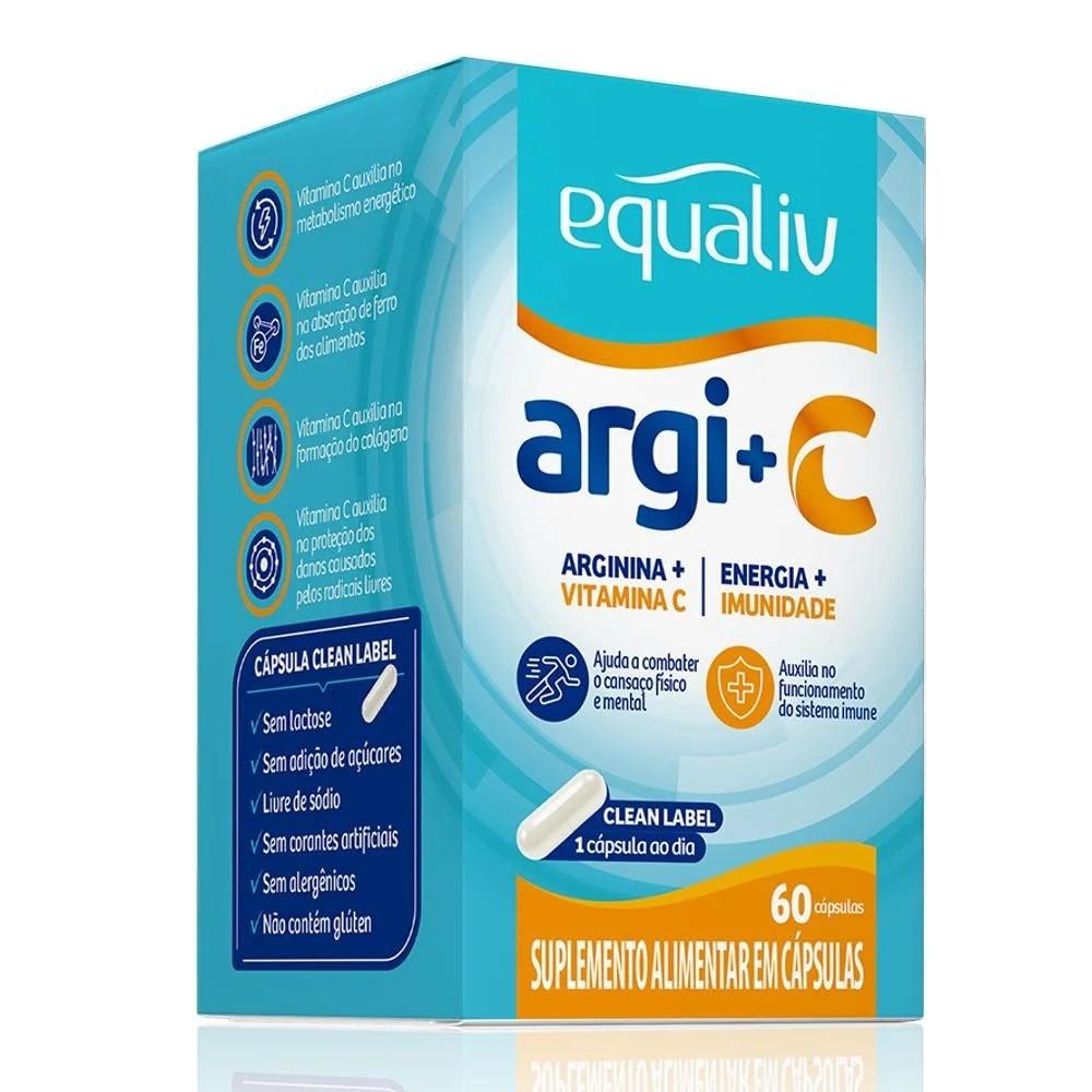 Arginina e Vit C 30cáps - Equaliv  - KFit Nutrition