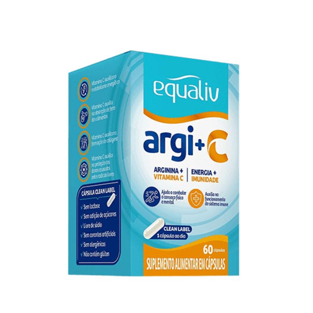 Arginina e Vit C 60cáps - Equaliv  - KFit Nutrition