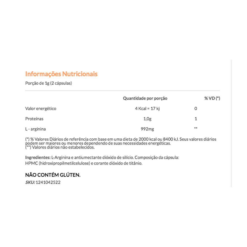Arginofor 30 Caps 500mg - Vitafor  - KFit Nutrition