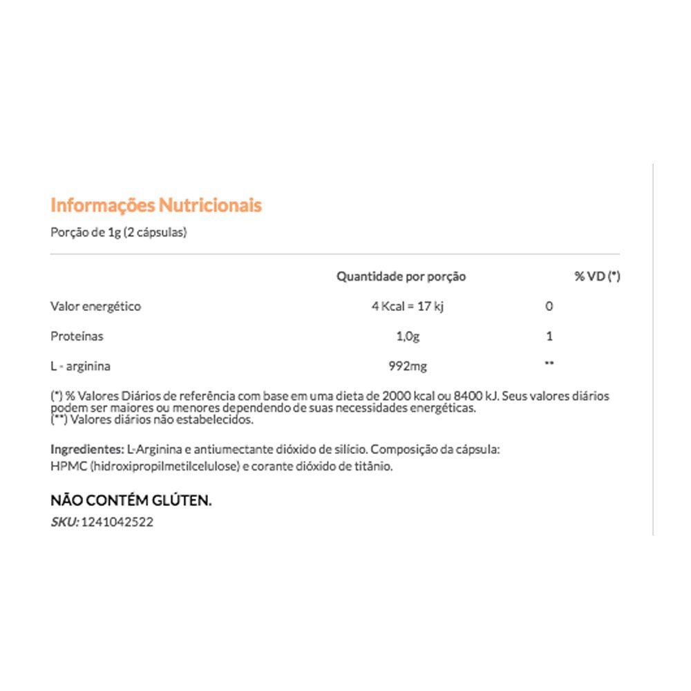 Arginofor 60 Caps 500mg - Vitafor  - KFit Nutrition