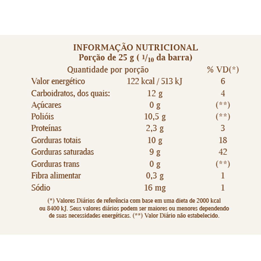 Barra Chocolate Branco com Recheio Avela 250g - Haoma  - KFit Nutrition