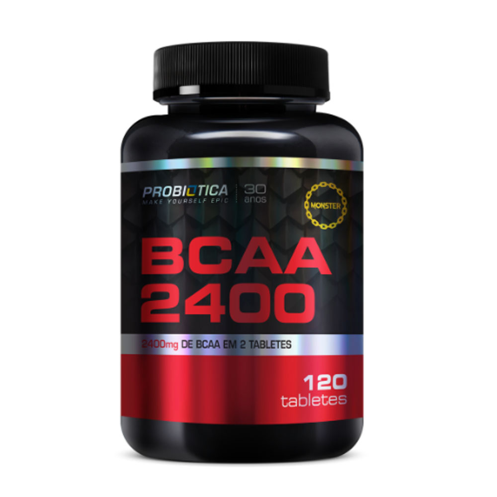 BCAA 2400MG  120 Tabletes - Probiótica  - KFit Nutrition