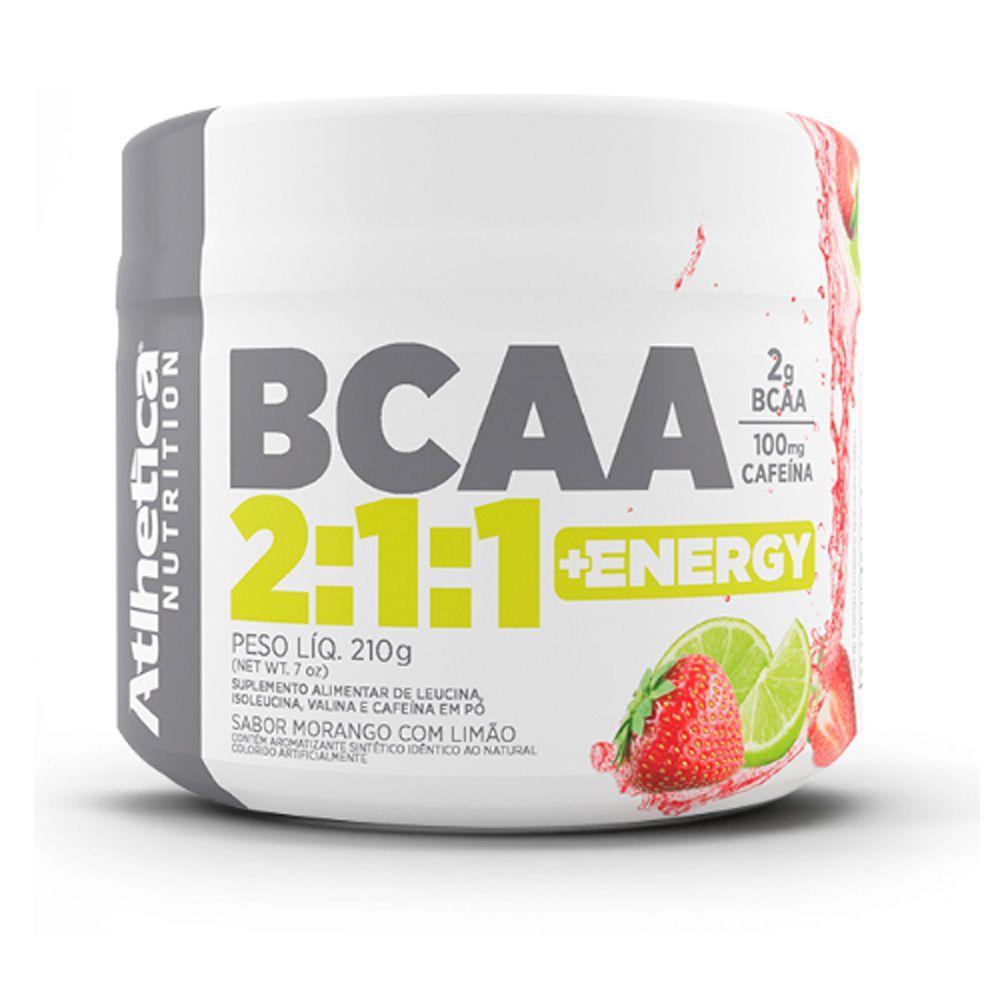 Bcaa 2:1:1 210g Morango Com limão Atlhetica Nutrition  - KFit Nutrition