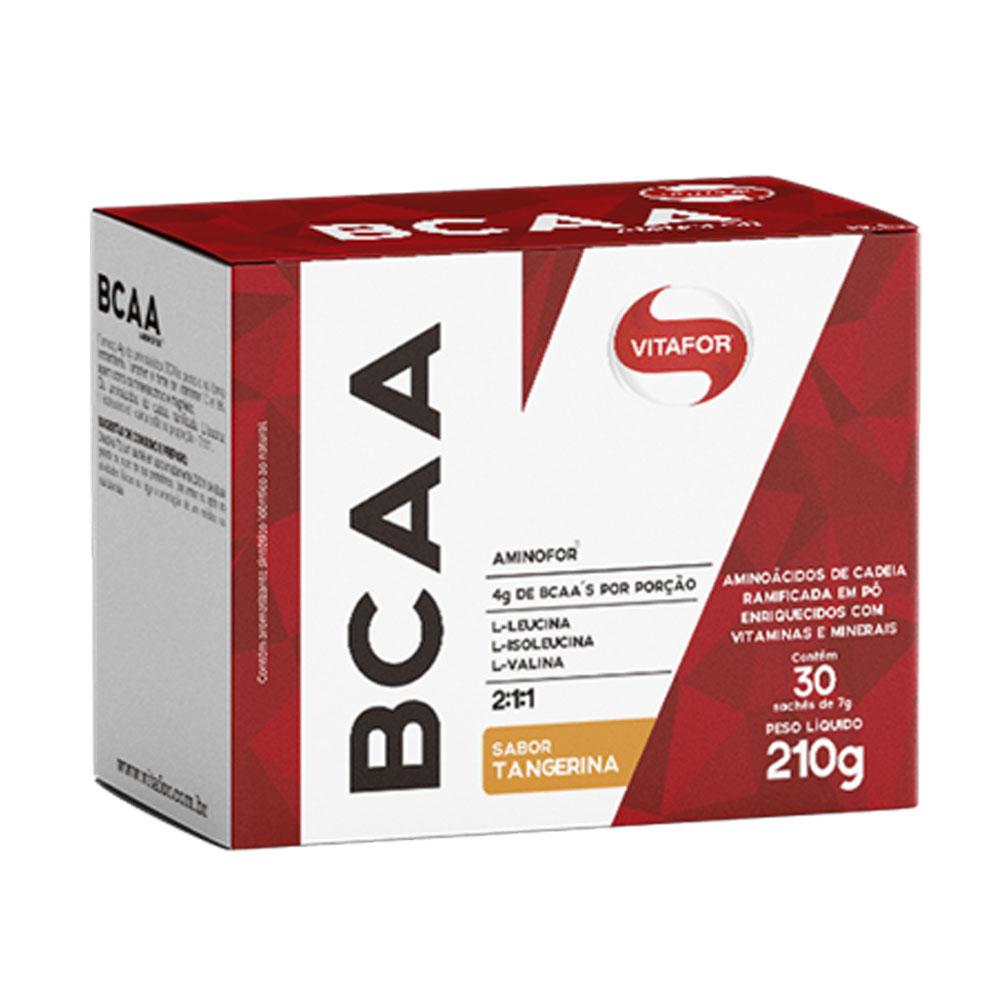 BCAA Aminofor 30 Sachês Tangerina - Vitafor  - KFit Nutrition