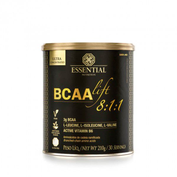 BCAA Lift 8:1:1 Limão 210g - Essential Nutrition  - KFit Nutrition