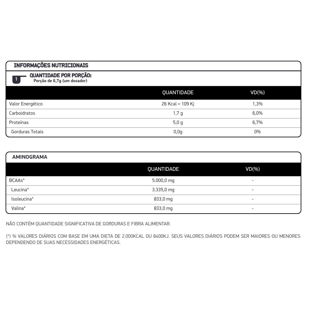 BCAA Powder Limão  200g - Dux  - KFit Nutrition