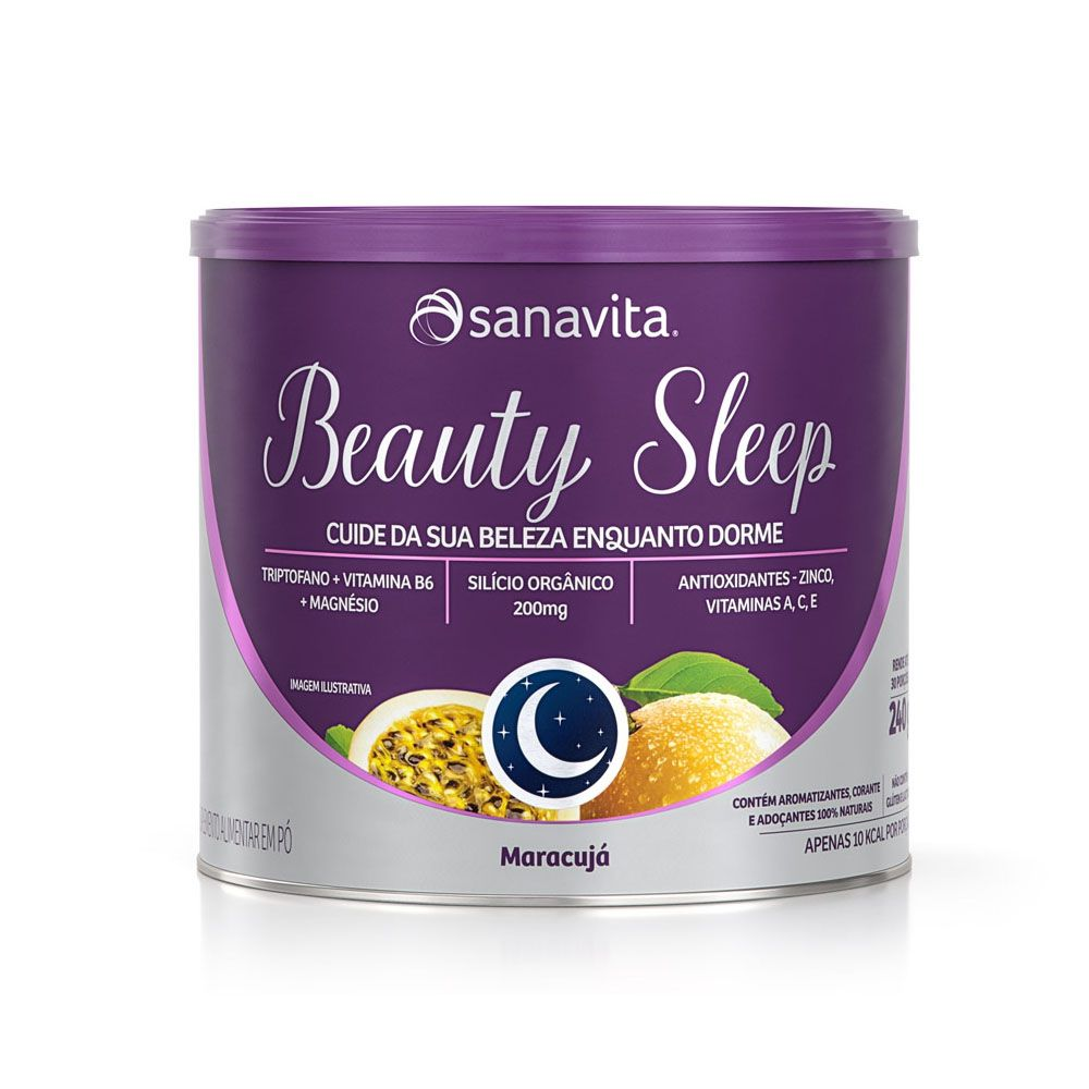Beauty Sleep Maracujá 240g - Sanavita  - KFit Nutrition