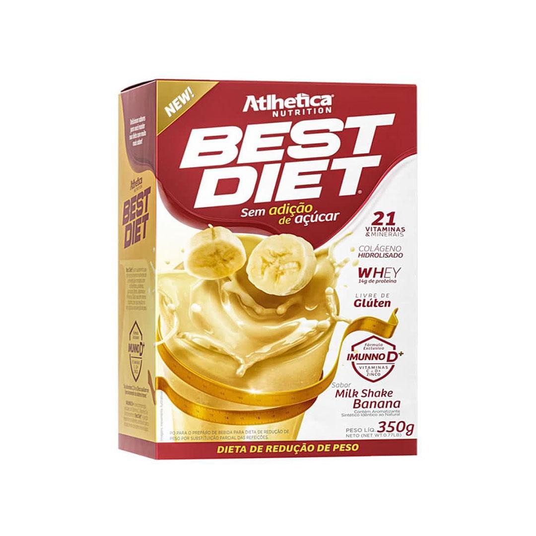 Best Diet 350g Milk Shake Banana - Atlhetica  - KFit Nutrition