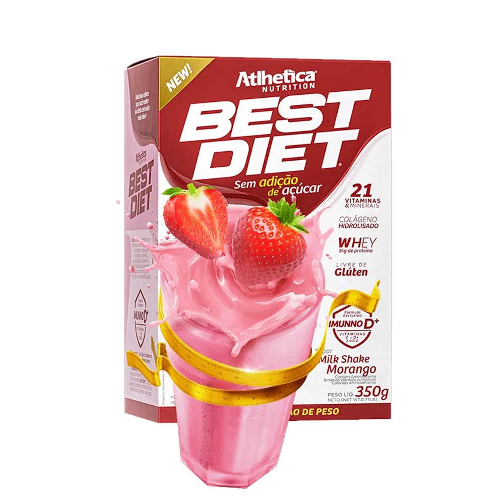Best Diet 350g Milk Shake Morango - Atlhetica  - KFit Nutrition