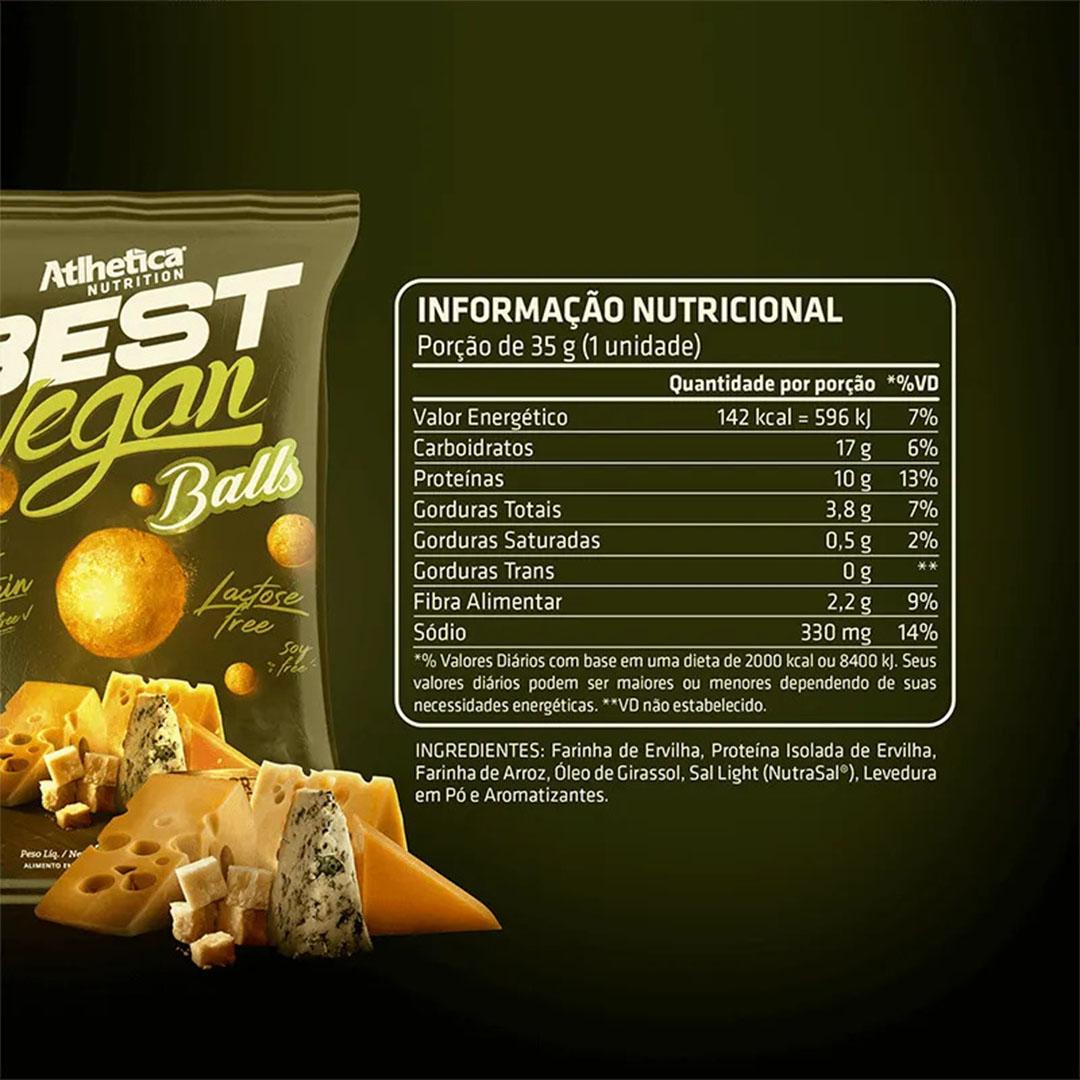 Best Vegan Balls 35g 4 Queijos - Atlhetica  - KFit Nutrition