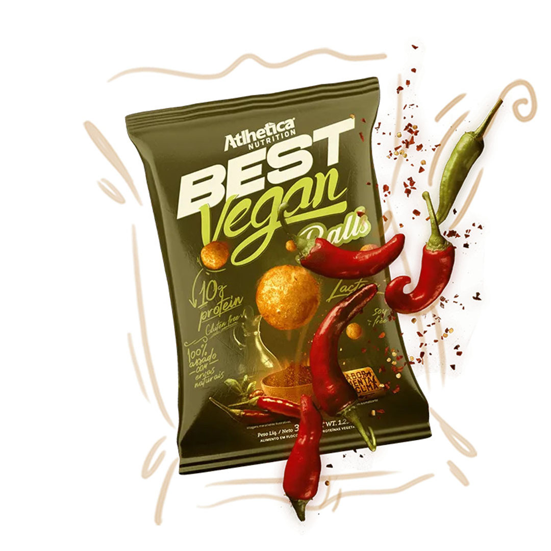 Best Vegan Balls 35g Pimenta & Curcuma - Atlhetica  - KFit Nutrition