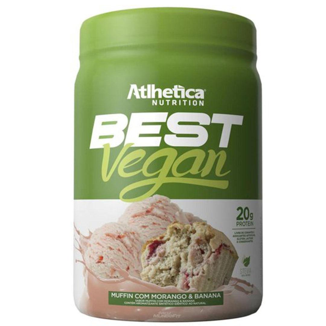 Best Vegan Muffin com Morango e Banana 500g - Atlhetica Nutrition  - KFit Nutrition