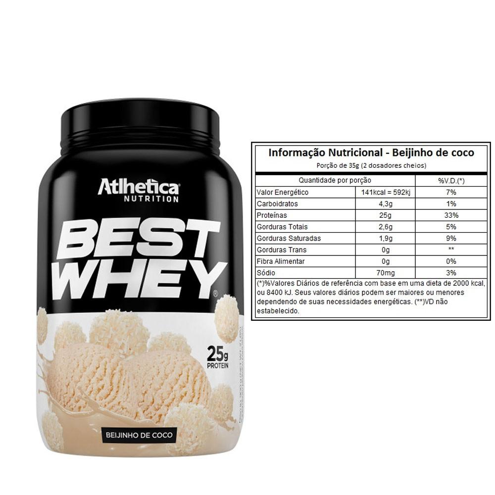 Best Whey 900G Beijinho de Coco  2 Un  - KFit Nutrition