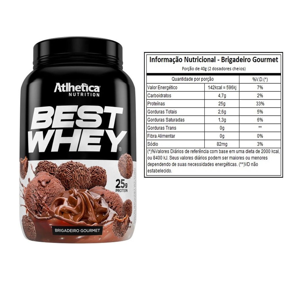 Best Whey 900G Brigadeiro Gourmet  2 Un  - KFit Nutrition