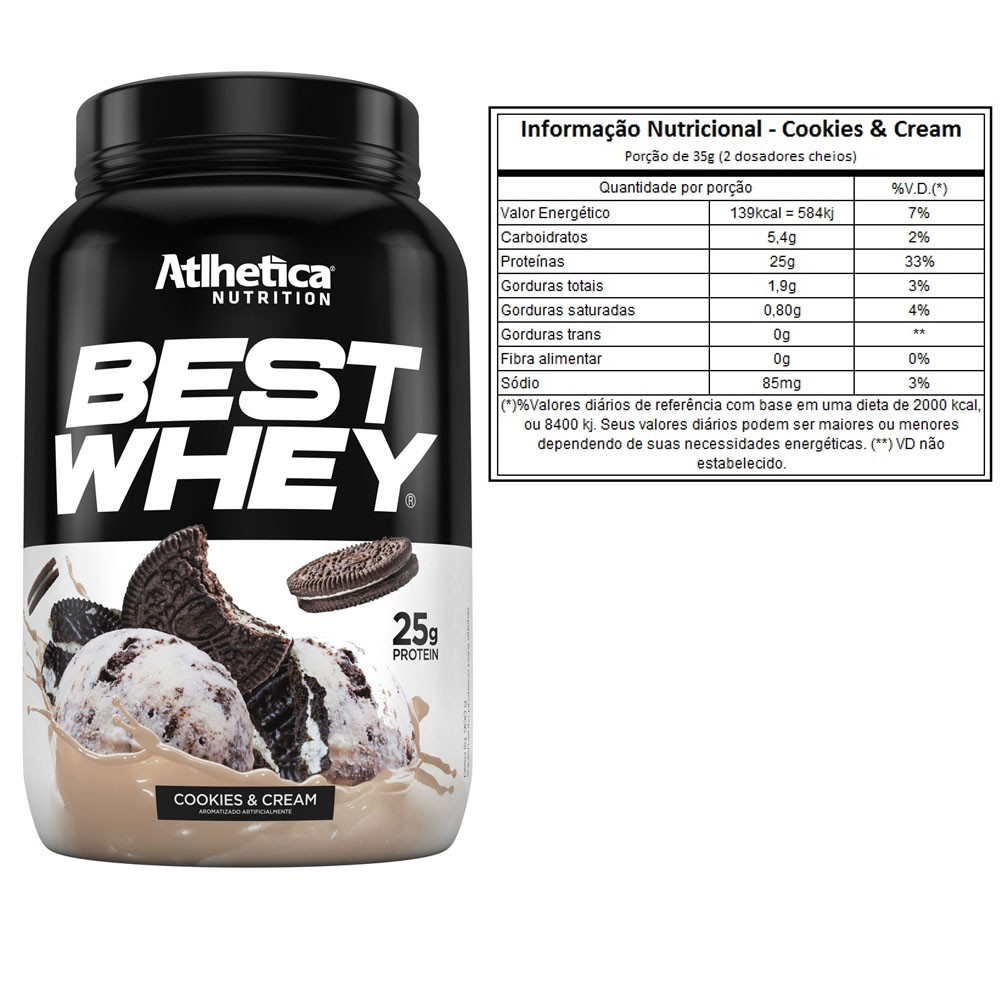 Best Whey 900G Cookies e Cream 2 Un - KFit Nutrition
