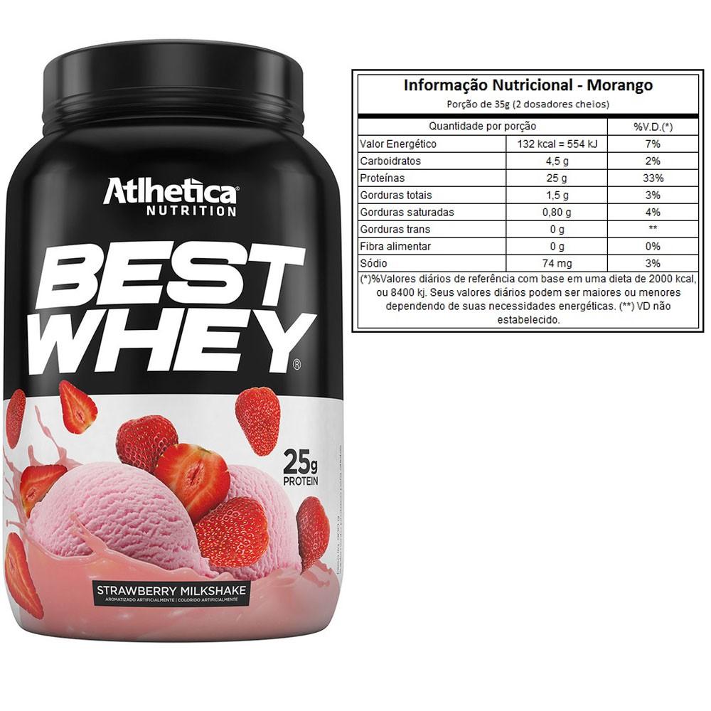 Best Whey 900G Morango 2 Un  - KFit Nutrition