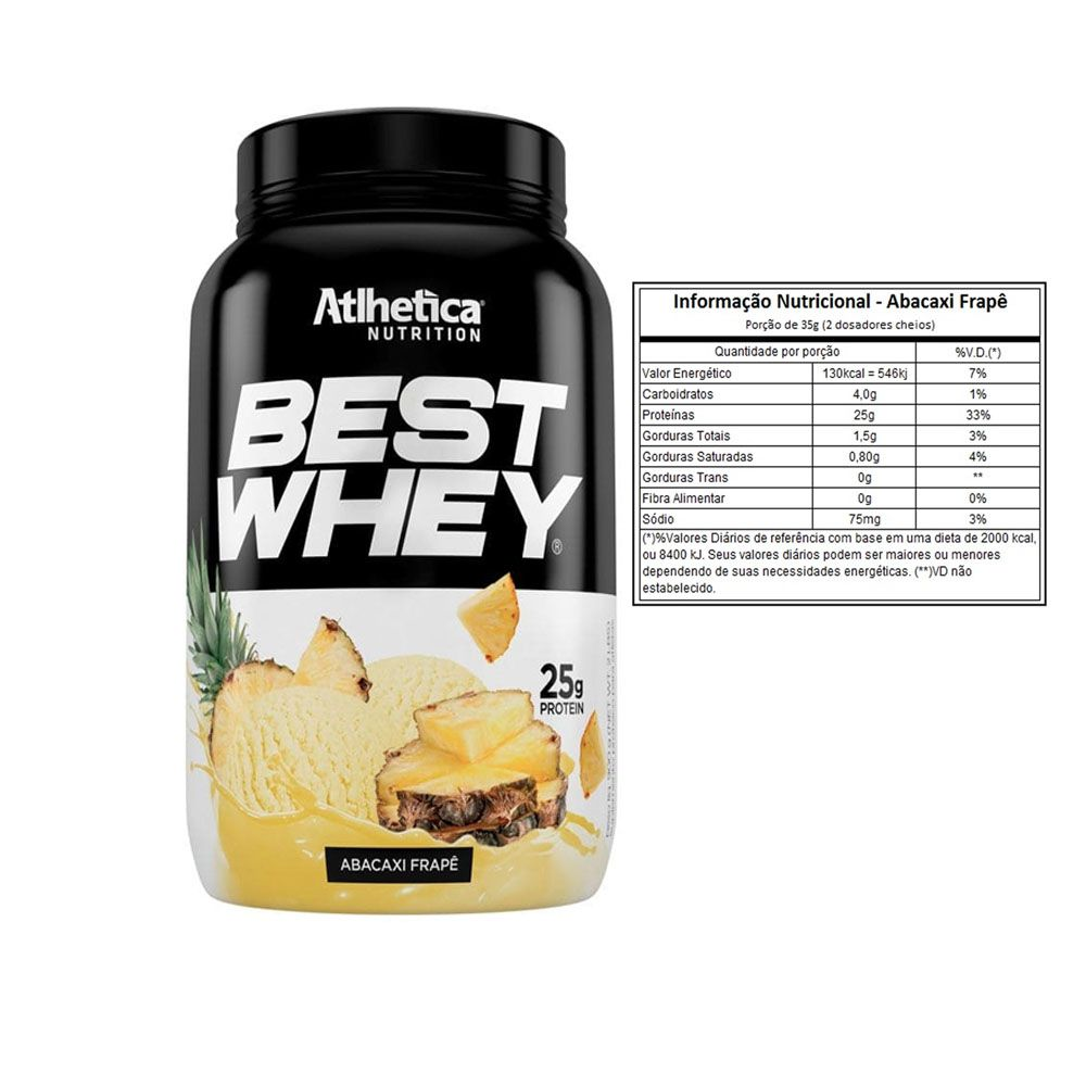 Best Whey Abacaxi 900g + Bcaa 60 Caps + Creatina 100g  - KFit Nutrition