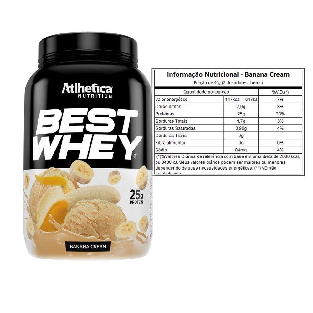 Best Whey Banana 900g + Bcaa 60 Caps + Creatina 100g  - KFit Nutrition
