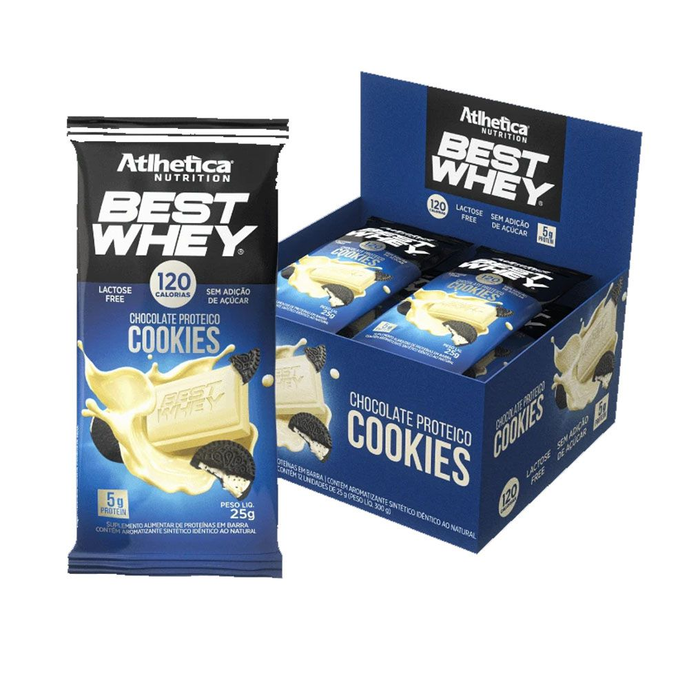 Best Whey Chocolate Proteico Cookies 25g - Cx 12 Un  - KFit Nutrition